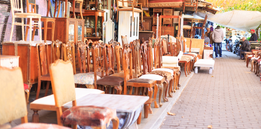 A store full of second-hand, used furniture which could be a major seller on Google Shopping.